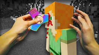 REALISTIC MINECRAFT - ALEX GETS KILLED BY A FIDGET SPINNER!⚡️