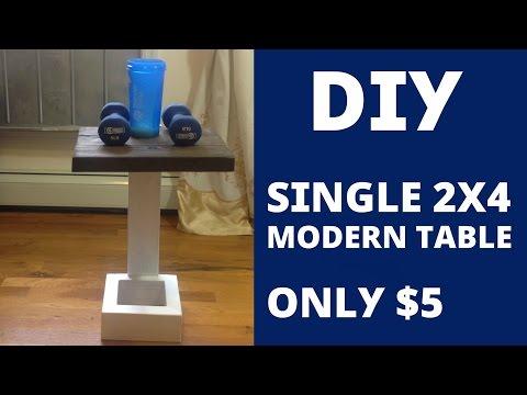 DIY - Single 2x4 Modern Table Design / Build