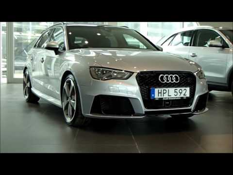 Florett silver Audi RS3 SB 367PS with black optic and carbonfiber inlays (walkaround)