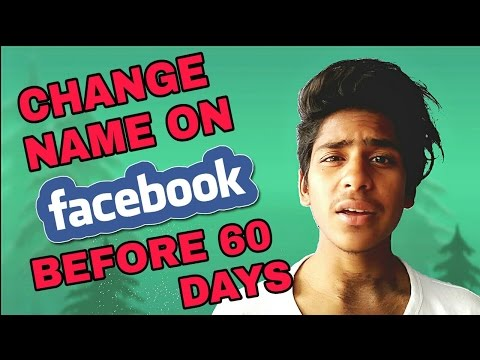How To Change Name on Facebook Before 60 days - Using Mobile