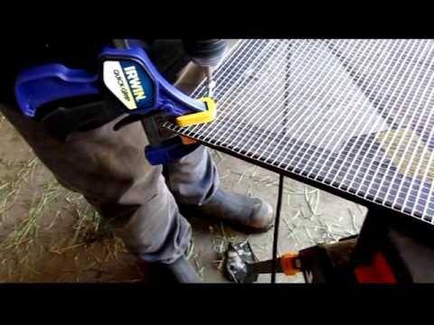 How to Make a Bug and Rat Proof Screen Door for the Rabbitry