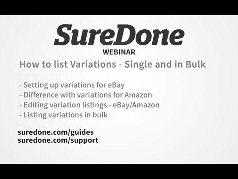 SureDone Webinar: Creating Variations