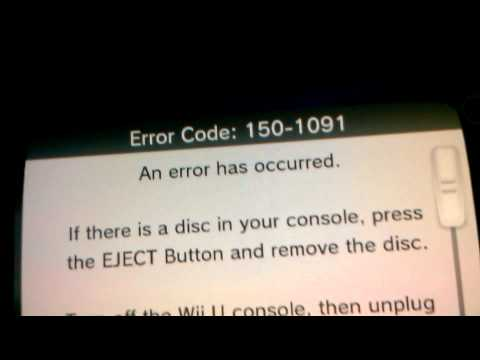 Wii U - Error Code 150-1091 - Sonic All Stars Racing Transformed Disc Error