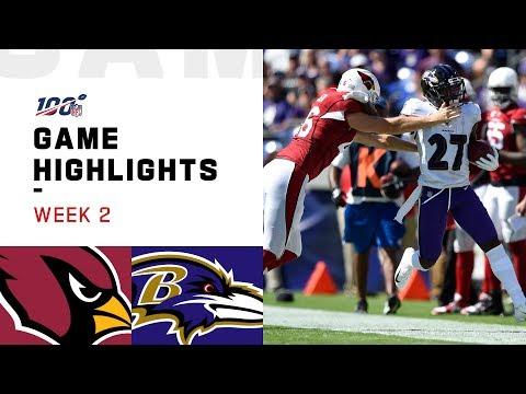 Cardinals vs. Ravens Week 2 Highlights | NFL 2019
