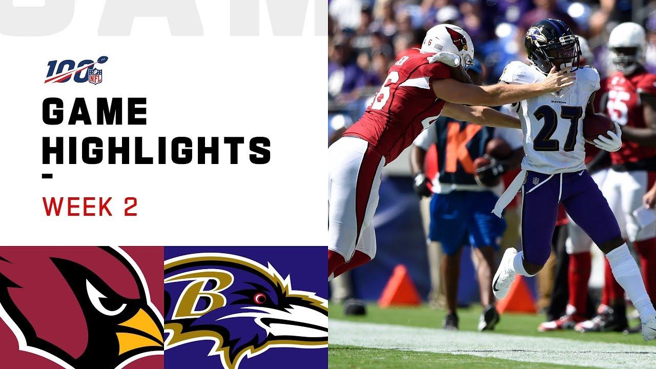 Cardinals vs. Ravens Week 2 Highlights   NFL 2019