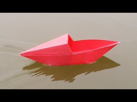 Make Paper Boat that Floats on Water - How to make an Origami Boat made of paper