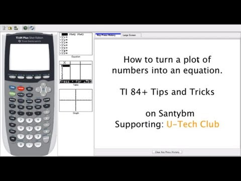 Find the equation from any set of points -- TI-84+ SE Tips and Tricks