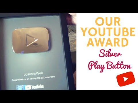 OUR YOUTUBE PLAY BUTTON! - FOR 100,000 SUBSCRIBERS! THANK YOU!