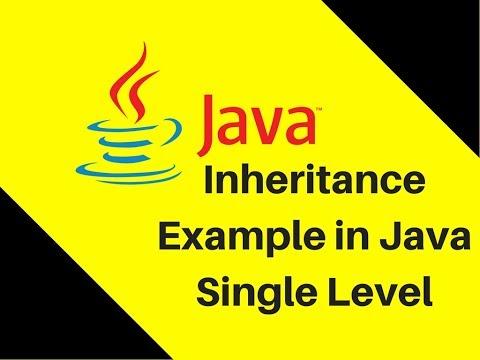 8.4 Inheritance Example in Java Single Level