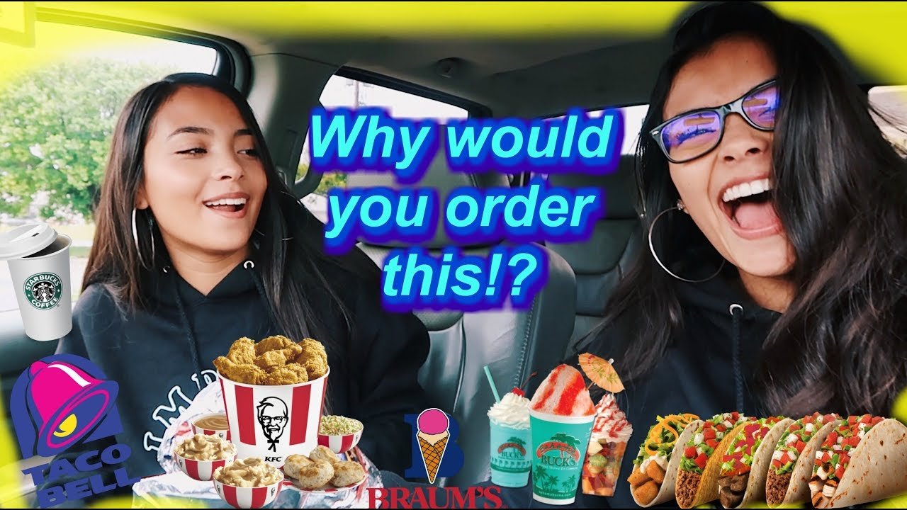 Letting The Person IN FRONT Of Us DECIDE What We Eat! | MontoyaTwinz