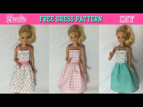 Easy Sew Doll Clothes Patterns Sew Clothes Amazing Barbie Dress Patterns Free Printable Pdf