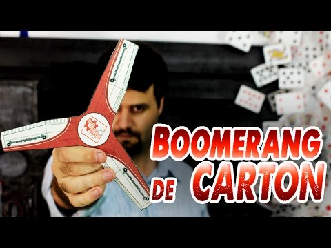 Como hacer un boomerang de cartón
