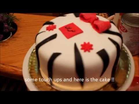 Zebra Fondant 18 layer Cake Fast Tutorial