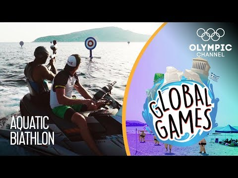 Aquatic Biathlon - Olympians vs Influencers | The Global Games