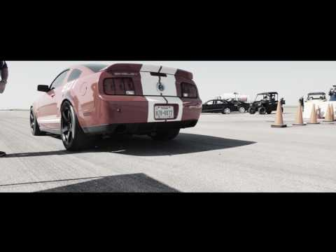 2007 Ford Shelby GT500 runs 205.2 MPH at the Texas Mile