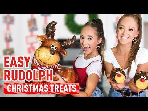 Easy DIY Christmas Rudolph Treats! Holiday Cupcake Recipe!   The Rybka Twins