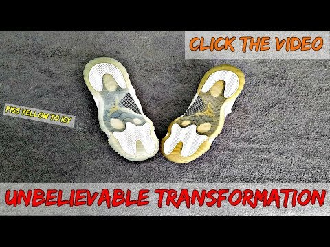 This Is How You Restore Soles From Piss Yellow To Icy Blue
