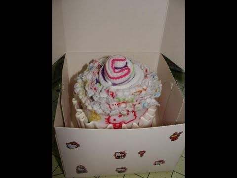 How to Make a Burp Cloth and Baby Sock Cupcake (Tutorial) with CookingAndCrafting