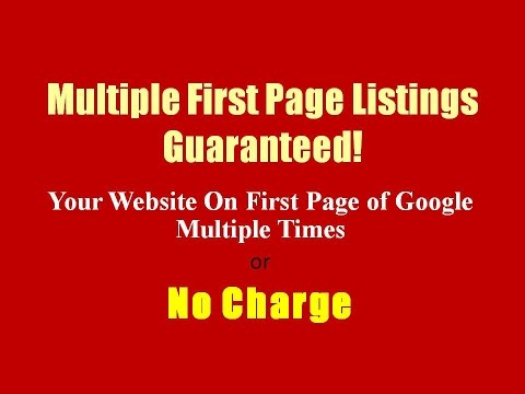 More Customers With Guaranteed First Page of Google Fast or Free