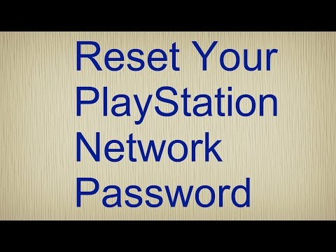 Reset your PlayStation network password