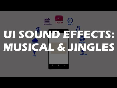 User Interface sounds - great musical and melodic UI sound effects