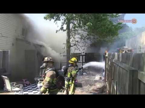 Virginia Beach VA  - Townhouse Fire:  May 3, 2018