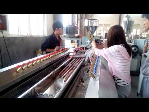 WPC broom stick making machine/Wood plastic composite profile making machine