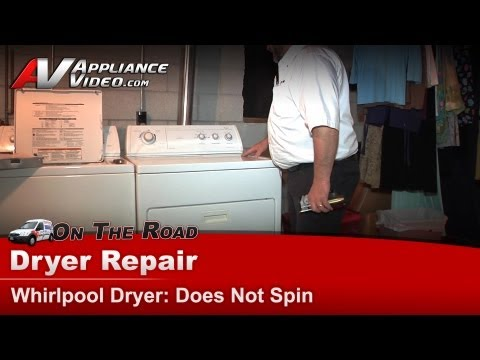 Whirlpool Dryer Repair - Does Not Spin - LEW7030KQ1