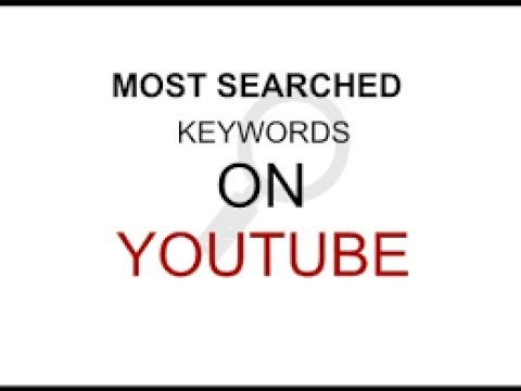 How to find most popular keyword for youtube videos