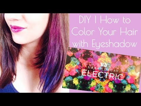 DIY Hair Chalk | How to Color Dye Your Hair with Eye shadow