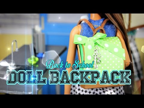 DIY - How to Make a Doll Backpack - Handmade - Doll - Crafts