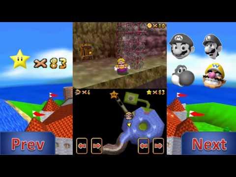 Let's Play Super Mario 64 DS Metal Head Wario can Move