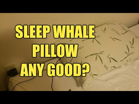 Review of the Sleep Whale - Premium Adjustable Shredded Memory Foam Pillow Derived from Bamboo