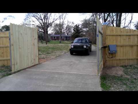 Solar powered gate installed!