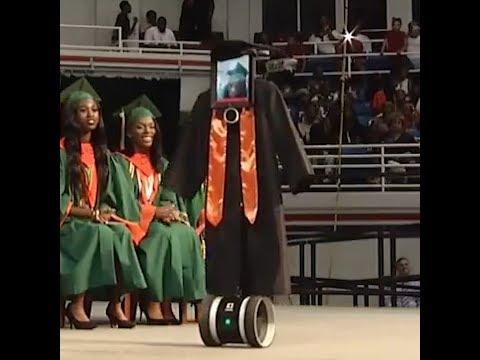 'I felt like I was there,' says Mobile student represented by a robot at graduation