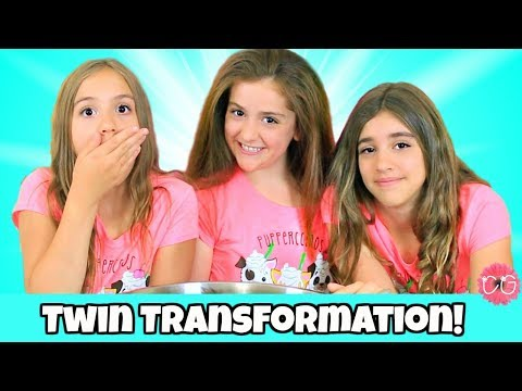 Transforming Into Identical Twins! Straightening Julia's Curls!