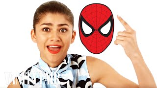 zendaya dramatically reads the spiderman theme song vanity fair