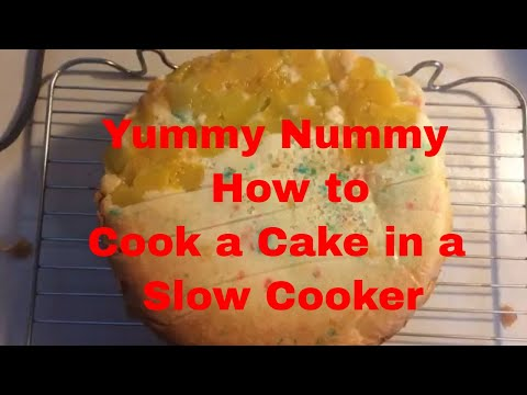 How to Make a Cake in a Slow Cooker