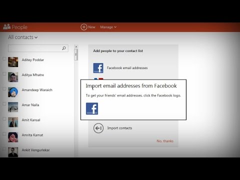Import Facebook Email Addresses into Outlook Hotmail