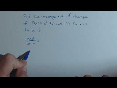 Average Rate of Change between 2 Points on a Cubic