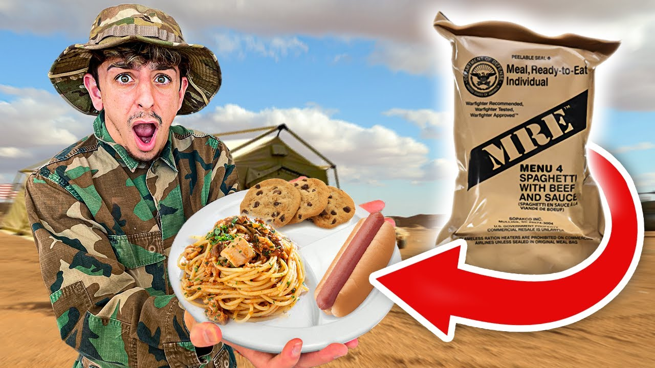Eating ONLY Military Food for 24 HOURS!! **shocking**