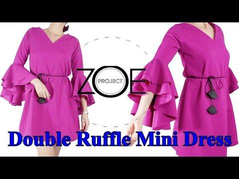 DIY dress Double Ruffle Mini Dress   Zoe DIY