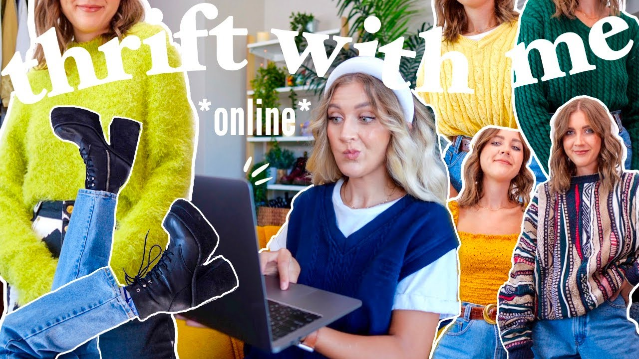 COME THRIFT WITH ME ONLINE | thrifting my DREAM wardrobe + big thrift haul