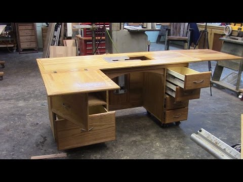 109 Building a sewing Cabinet with lift part 2 of 2