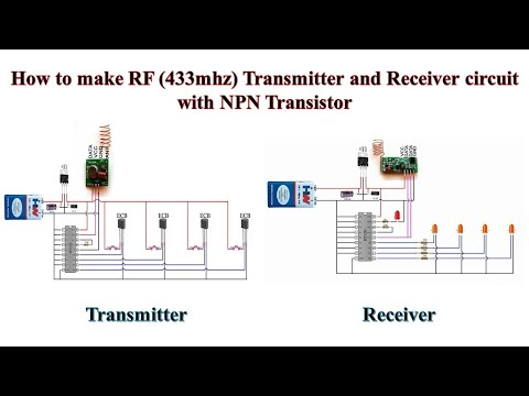 How to make RF (433mhz)Transmitter and Receiver circuit with NPN Transistor