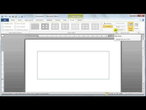 Microsoft Word 2010 Insert Tables - Tutorial 19