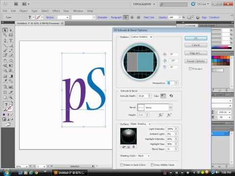 Adobe Illustrator CS5 3D Text Tutorial