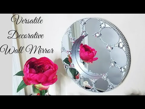 Diy Deep Round Decorative Wall Mirror| Wall Decorating Ideas!
