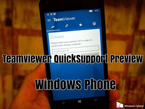 How To Control Your Windows Phone Wirelessly via PC | Teamviewer QuickSupport Remote