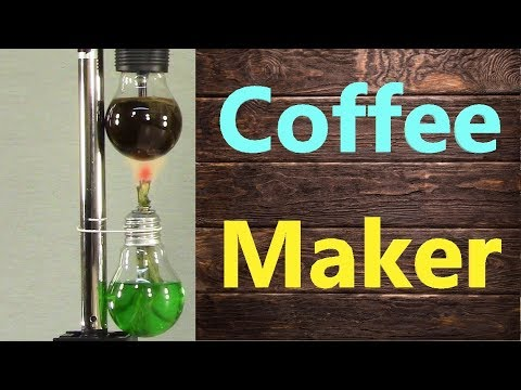 Vacuum Coffee Maker out of Light Bulbs DIY